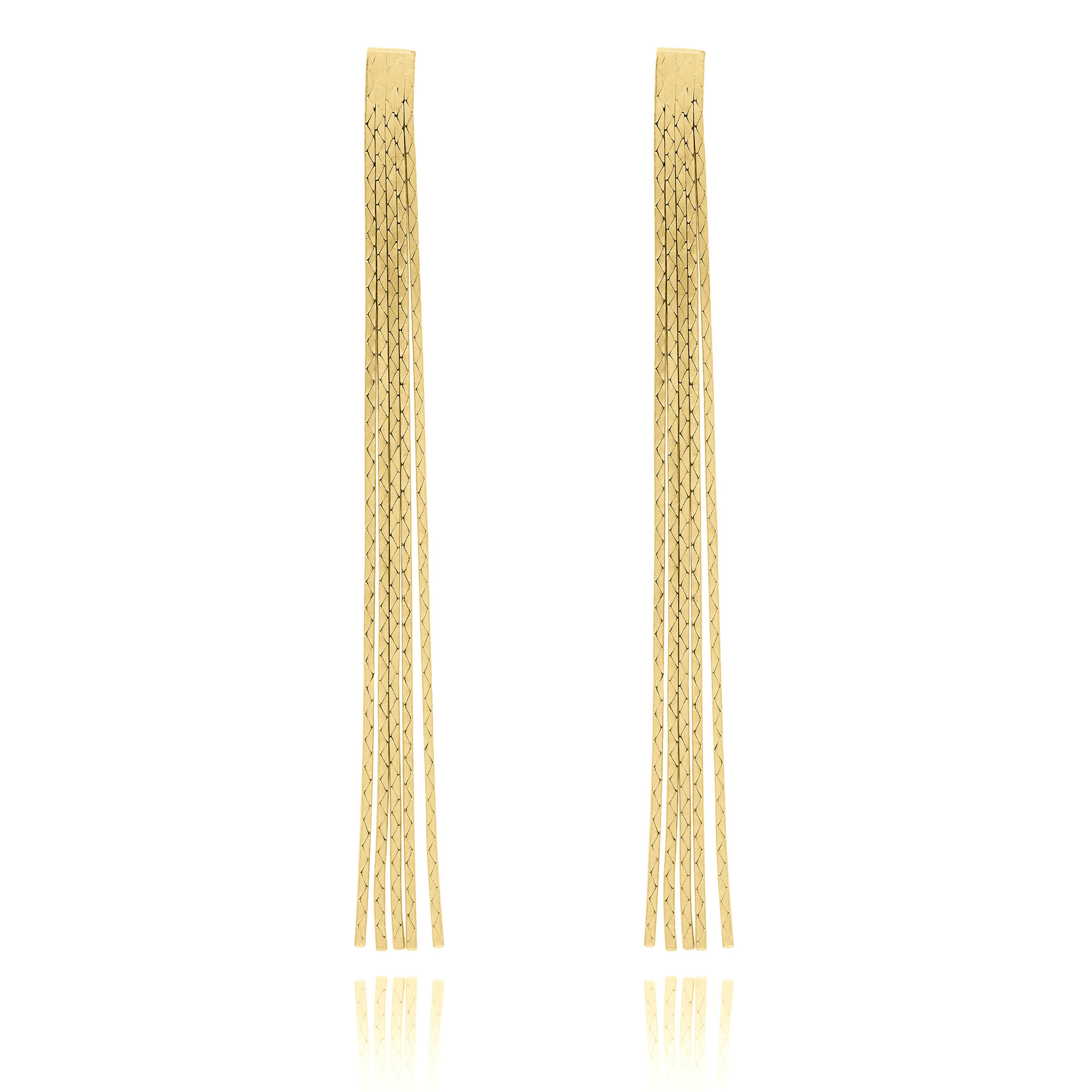 pieces end gold earrings cap bead cone index matte tassel